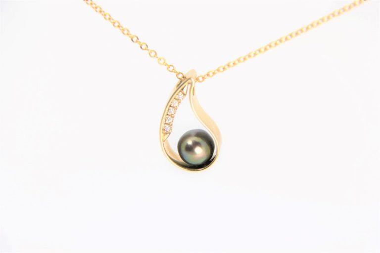 Teardrop Pearl Pendant