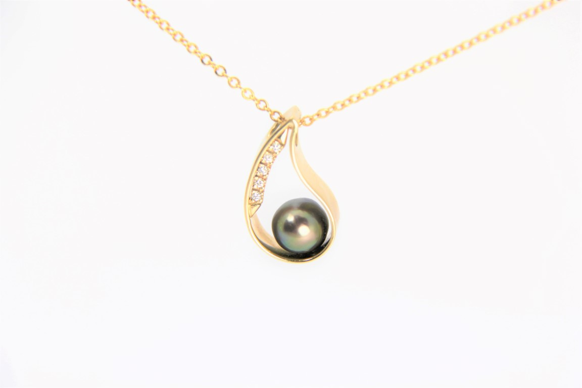 allure pendant sea or yellow pearls white double product south gold this pearl