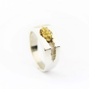 Gold Nugget Ring Mens