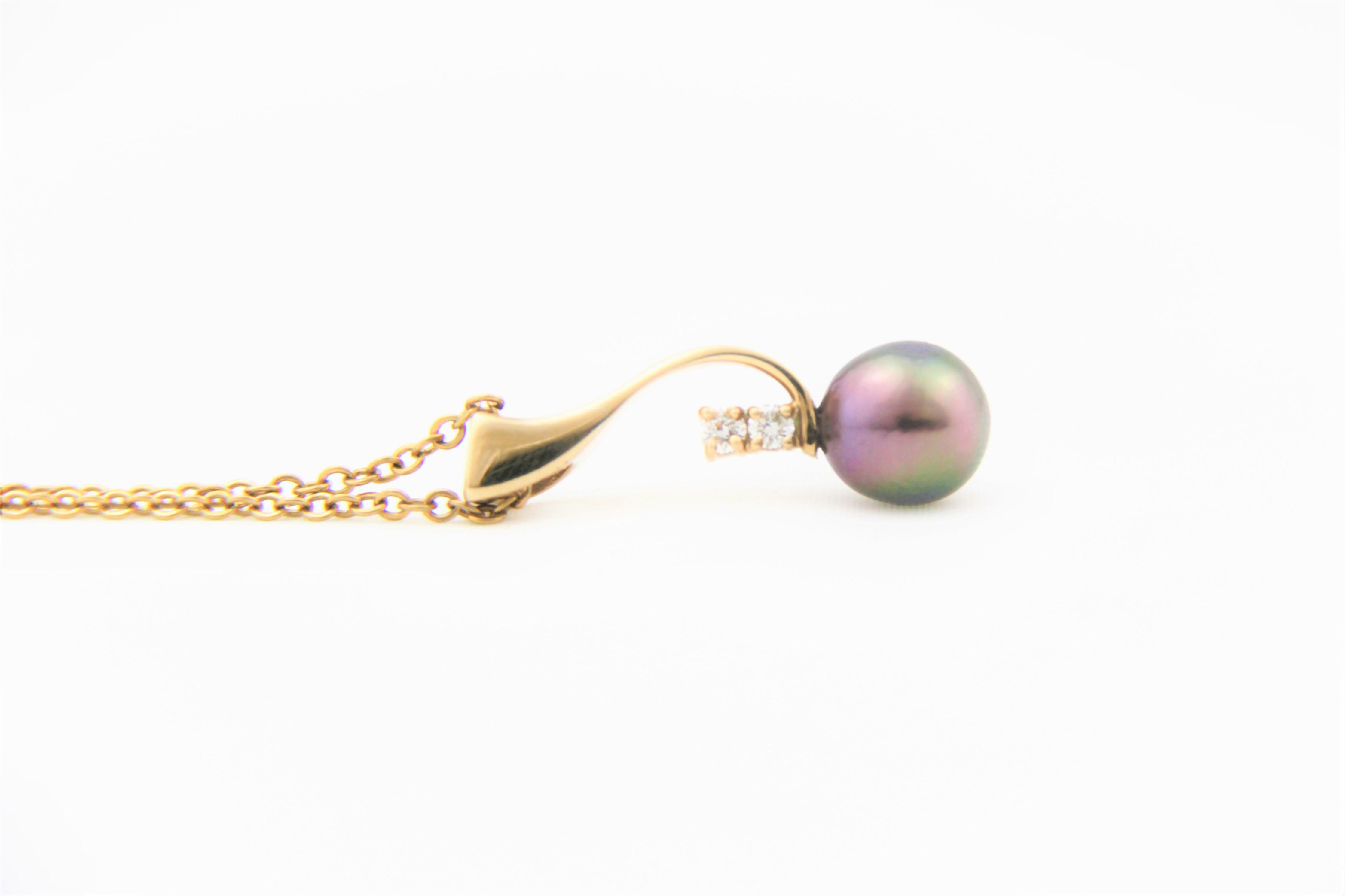 pearl diamond penadnt